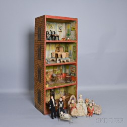 Dunham's Cocoanut Doll House and Accessories