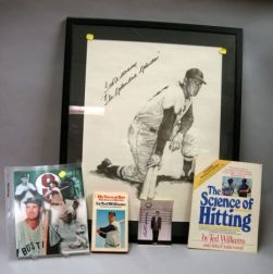 Ted Williams Autographed 1950s Boston Police Department Record Photograph and   Related Items