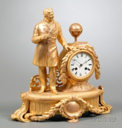 Gilt French Mantel Clock