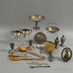 Group of Sterling Silver Tableware and Flatware