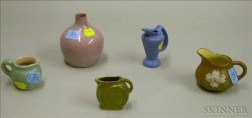 Five Small Pieces of Art Pottery
