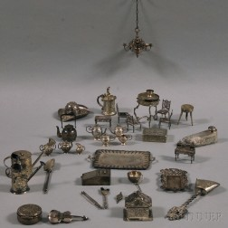 Collection of Small Mostly Silver Decorative and Figural Objects