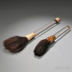 Two Ink Brushes with Rod Handles