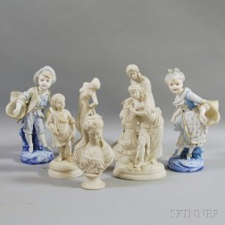 Group of Mostly Parian Figures