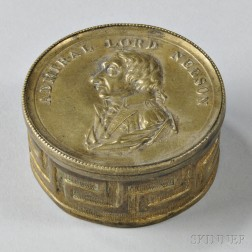 "Brass ""Admiral Lord Nelson"" Memorial Snuff Box"