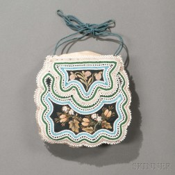 Seneca Beaded and Moose Hair-embroidered Cloth Pouch