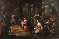 Italian School, 17th Century Style      The Judgment of Solomon