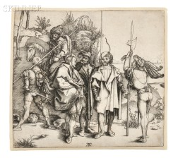 Albrecht Dürer (German, 1471-1528)      Five Soldiers and a Turk on Horseback
