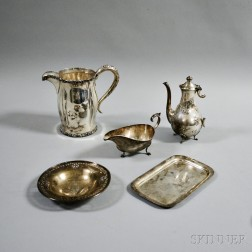 Five Sterling Silver American Hollowware Items