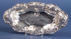 Whiting Manufacturing Co. Sterling Acid Etched Trophy Bread Tray