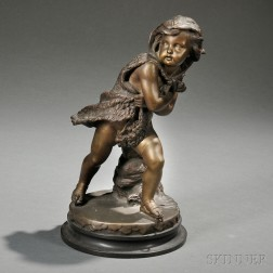 Bronze Figure of a Putto Personifying Winter