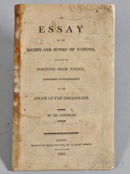 [Everett, David] (1770-1813),   An Essay on the Rights and Duties of Nations