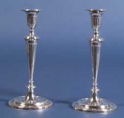 Pair of George III Silver Candlesticks