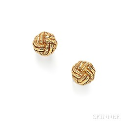 18kt Gold Love Knot Earstuds, Tiffany & Co.