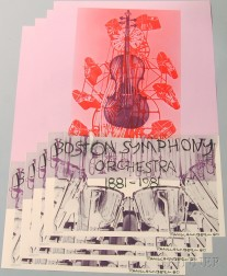 After Robert Rauschenberg (American, 1925-2008)      Four Boston Symphony Orchestra Centennial Posters.