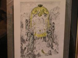 Framed Print, after Chagall.