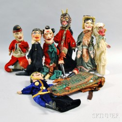 Eight Punch and Judy Dolls