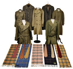 Group of Mostly Men's Burberry Clothing