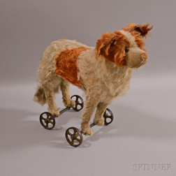 Early Steiff Dog Pull-toy