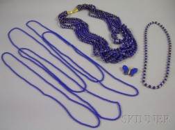 Group of Lapis Jewelry Items
