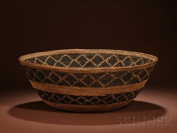 Paiute Coiled Basketry Bowl
