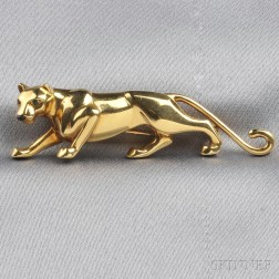 18kt Gold and Emerald Panther Brooch, Cartier