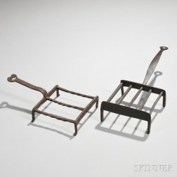 Two Small Wrought Iron Broilers