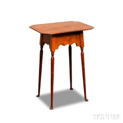 Queen Anne-style Tiger Maple Tea Table
