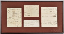 Percival, John [aka Mad Jack Percival] (1779-1862) and James Barron (1768-1851) Documents Related to the Schooner Porpoise.