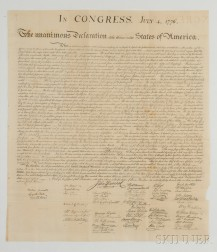 Declaration of Independence.