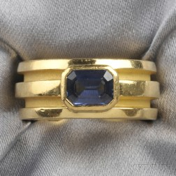 18kt Gold and Sapphire Ring, Tiffany & Co.