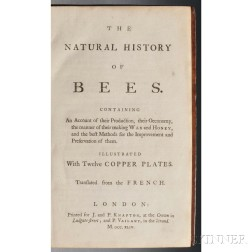 Bazin, Gilles Augustin (d. 1754) The Natural History of Bees.