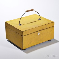 Yellow-painted Sewing Box