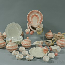 Fitz and Floyd Porcelain Seashell Chowder Set for Eight