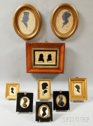 Nine Framed Silhouettes