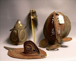Three New Guinea Painted Basketry Items and an Embellished Bone Implement.