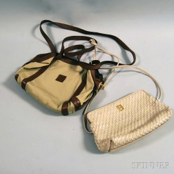 Two Fendi Leather and Canvas Purses
