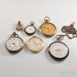Six Assorted Pocket Watches