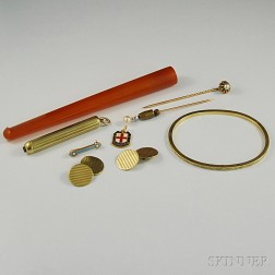 Small Group of Antique Accessories and Jewelry