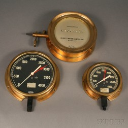 Three Brass-cased Jas. P. Marsh Gauges