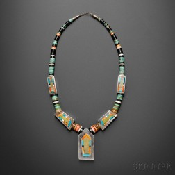 Contemporary Santo Domingo Necklace by Frank Atencio