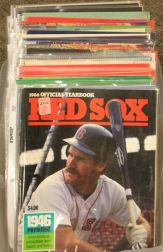 Collection of 1980s and 1990s Boston Red Sox Yearbooks, Souvenir Books, Programs,   and Calendars