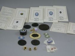 Twenty-four Wedgwood Society Items, Jasper and Basalt Medallions and Intaglios, Etc.