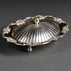 Export Silver Rococo Revival Covered Butter Dish