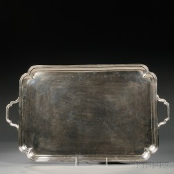 George V Sterling Silver Tray