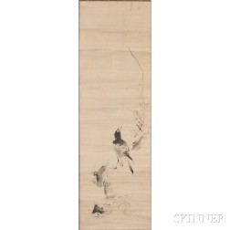 Hanging Scroll Depicting a Magpie