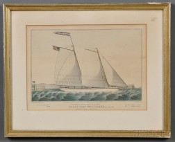 Nathaniel Currier, publisher (American, 1813-1888)      Extraordinary Express Across the Atlantic. PILOT BOAT Wm. J. ROMER.