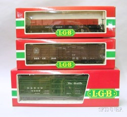Three L.G.B. Boxed Rolling Stock