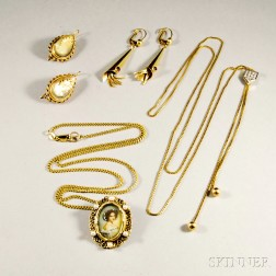 Four Pieces of 14kt Gold Jewelry
