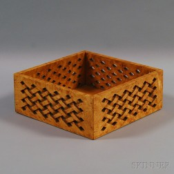Carved Basketweave Open Box